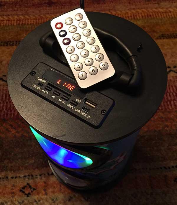 Photo of Mini tour speaker led sans fil de Teknofun