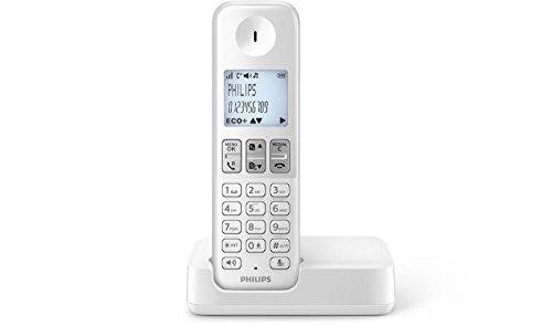 philips d2301w fr t l phone fixe sans fil blanc notre. Black Bedroom Furniture Sets. Home Design Ideas