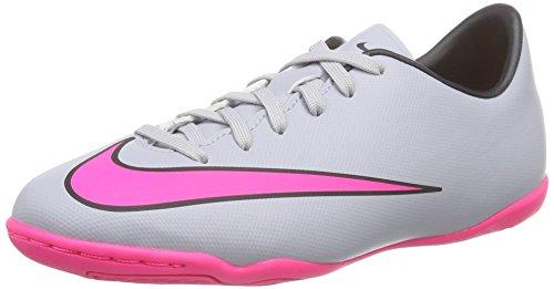 sports shoes 56d27 8fafa Nike Mercurial Victory V IC, Chaussures de foot pour garçon Gris Grau (Wolf  Grey Hyper Pink Black Black) 36.5