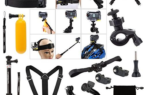 luxebell kit 14in1 accessoires bundle pour sony action cam hdr as15 as20 as30v as100v. Black Bedroom Furniture Sets. Home Design Ideas