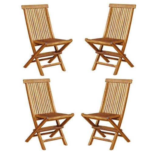 lot de 4 chaises de jardin pliantes en teck huil notre si cle votre e mag du xxi me si cle. Black Bedroom Furniture Sets. Home Design Ideas