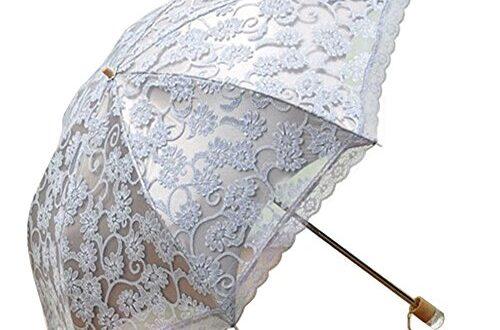 lalawow parapluie pliant femme fille deux section ravissante ombrelle parapluie parasol anti uv. Black Bedroom Furniture Sets. Home Design Ideas
