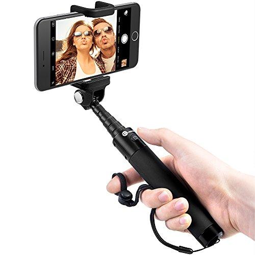 perche selfie stick bluetooth sans fil taotronics autoportrait avec d clencheur int gr et. Black Bedroom Furniture Sets. Home Design Ideas