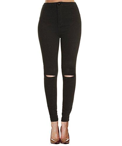 isassy leggings femmes pantalon slim uni jean collants noir taille s notre. Black Bedroom Furniture Sets. Home Design Ideas