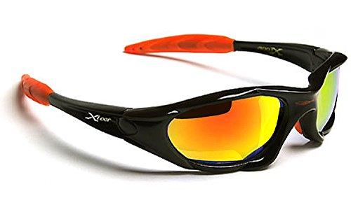 X-Loop Lunettes de Soleil - Sport - Cyclisme - Ski - Tennis - Moto -  Conduite - Mode - Plage   Mod. 010P Noir Orange Diesel Spectrum Miroir -  Notre-Siècle 132a39a2fa3e