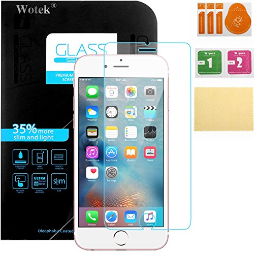 iphone 7 protection cran en verre tremp wotek film protection d 39 cran en verre tremp pour. Black Bedroom Furniture Sets. Home Design Ideas