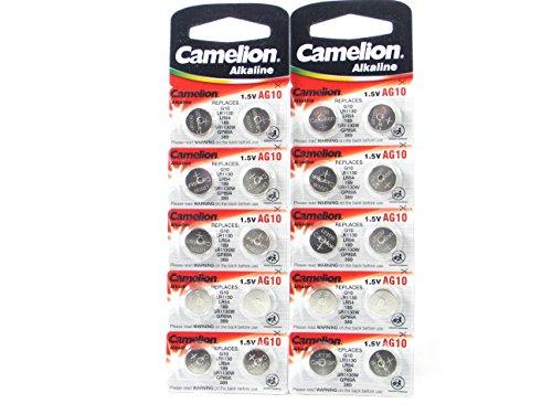 20 camelion ag10 lr54 189 389 lr1130 pile bouton longue dur e de conservation date d. Black Bedroom Furniture Sets. Home Design Ideas