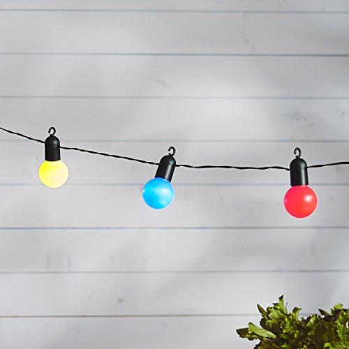 guirlande lumineuse guinguette avec 20 boules led multicolores pour int rieur ext rieur de. Black Bedroom Furniture Sets. Home Design Ideas
