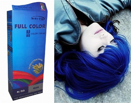 teinture coloration cheveux permanente goth emo elfe cosplay bleu notre si cle votre e mag. Black Bedroom Furniture Sets. Home Design Ideas