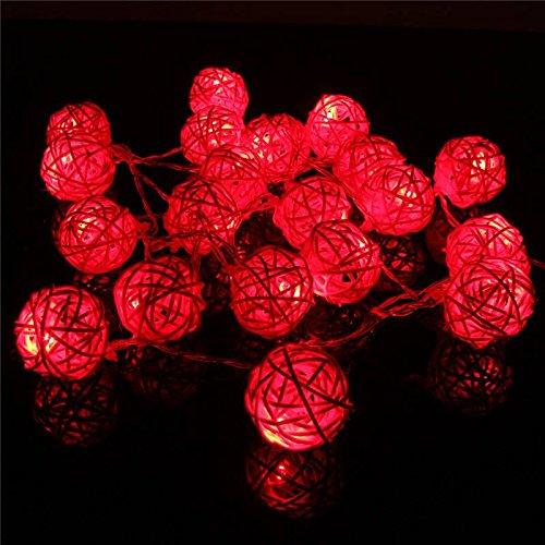 solmore 2 2m guirlande lumineuses 20 boule led bo te de pile festival clairage d coration de. Black Bedroom Furniture Sets. Home Design Ideas