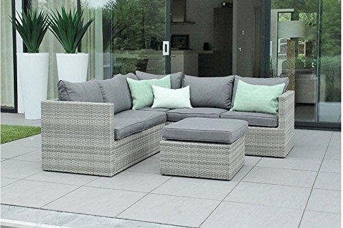 au jardin de chlo salon canap de jardin modulable avec table pouf r sine tress e design. Black Bedroom Furniture Sets. Home Design Ideas