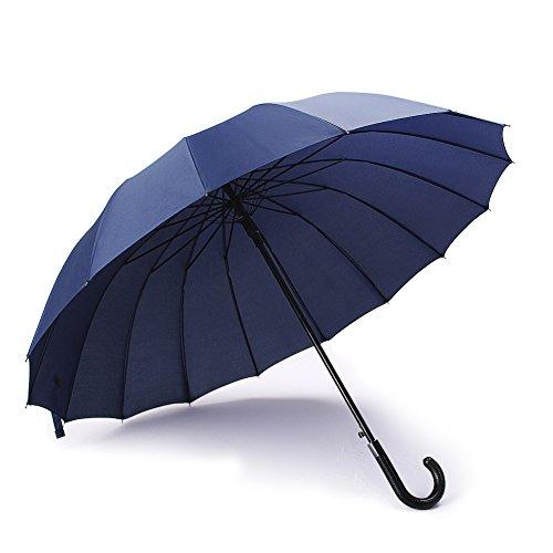 parapluie canne avec 16 baleines incassable anti vent anti retournement anti glisse tissu 210t. Black Bedroom Furniture Sets. Home Design Ideas