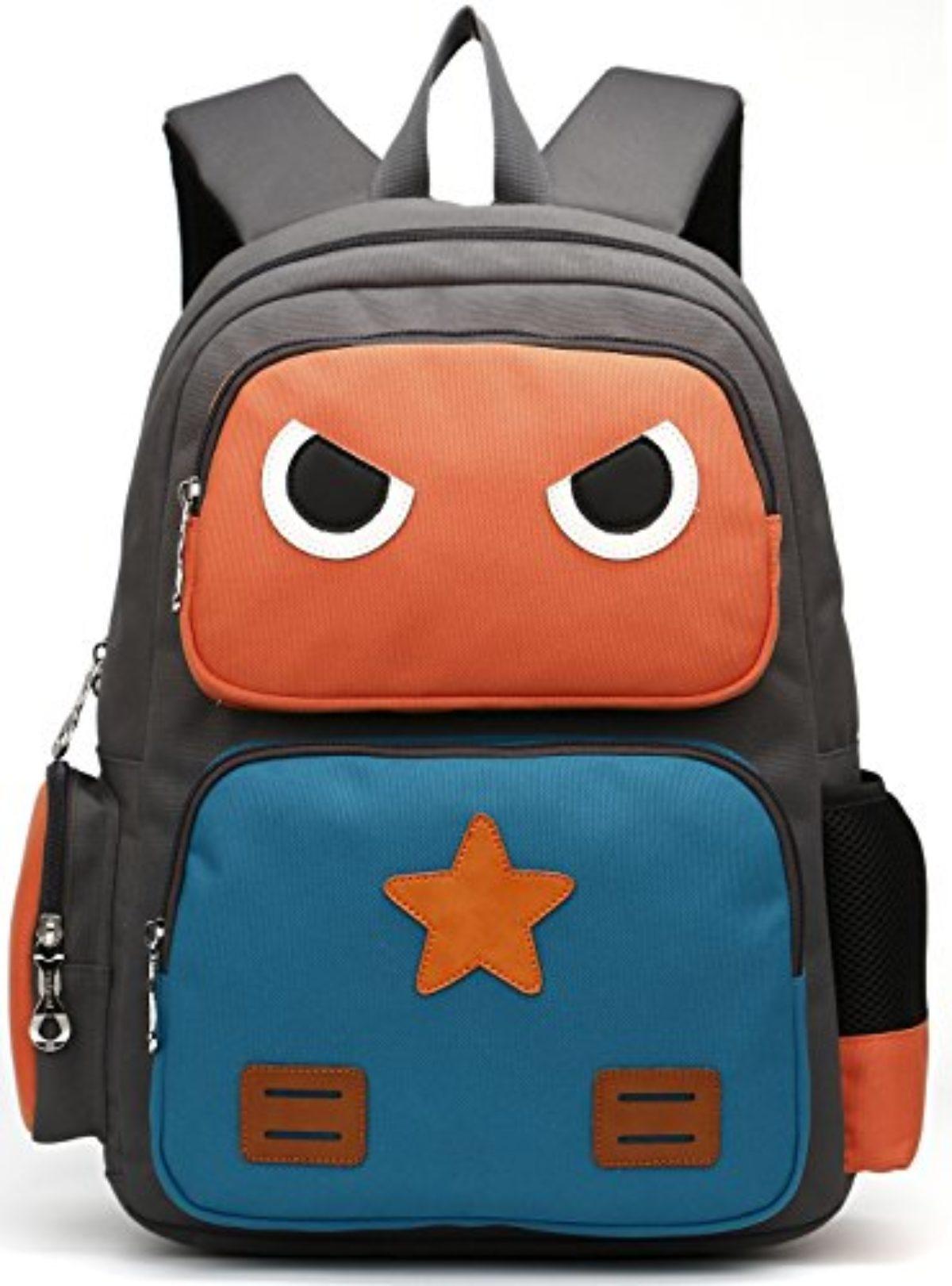 Orange KAXIDY Sac /à Dos /école Enfant Sacs Scolaires Cartable Sac /à Dos Scolaire Sac Ecole