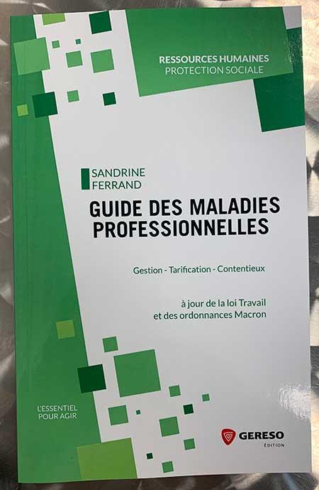 Photo de Guide des maladies professionnelles de Sandrine Ferrand chez Gereso