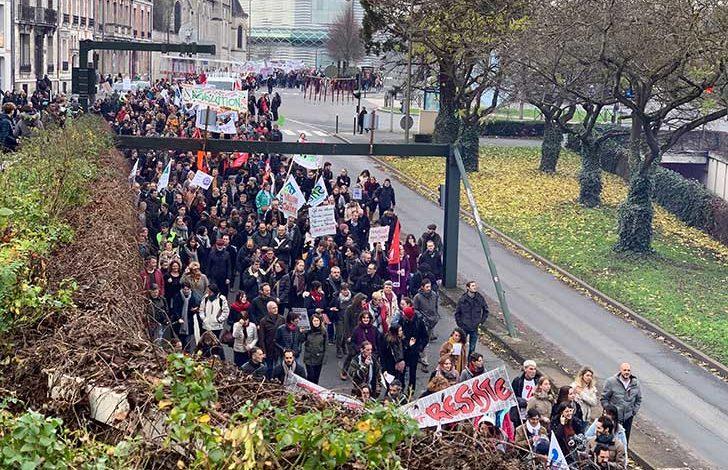 Photo of Manifestation à Orléans le 17décembre 2019